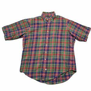 Vintage Ralph Lauren Short Sleeve Flannel Shirt L